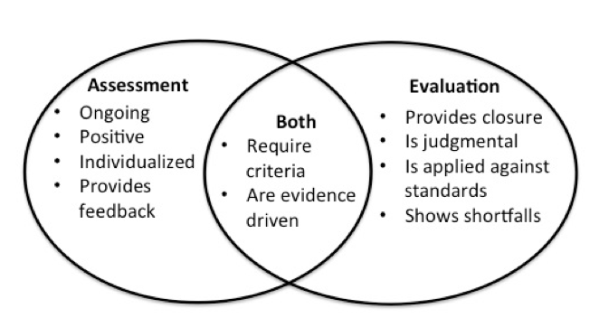 Figure 3 illustrates the relationship between assessment and evaluation
