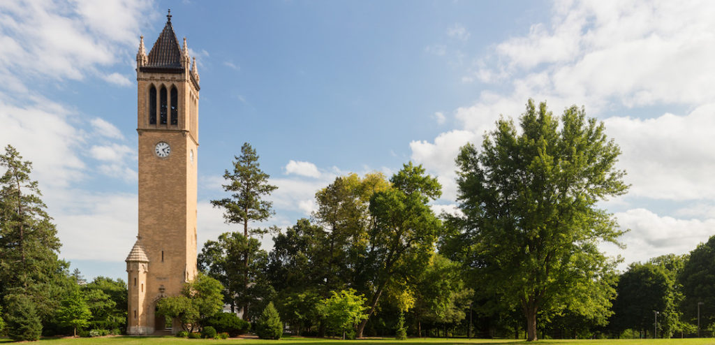 the Campanile on Iowa State University's Central Campus
