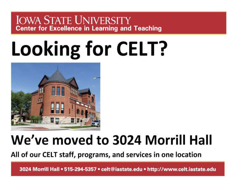 CELT moved out of the library