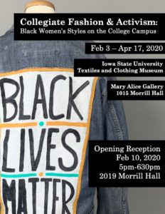 Collegiate fashion and activism flyer