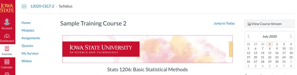 ISU Course Template