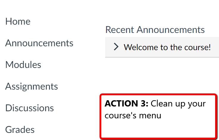 Clean up your course menu