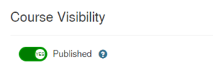 Course Visibility toggle moved to published status