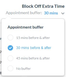 Appointment buffer set-up in Webex