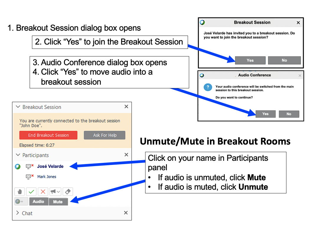 Breakout session in Webex Training