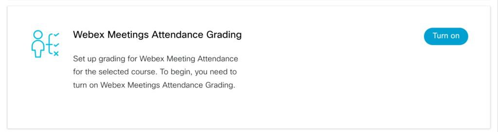 Webex attendance