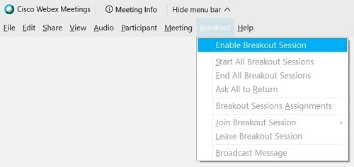 enable breakout rooms