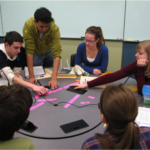 a group of students participating in active learning