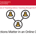 Interactions matter in an online course by Maggie LaWare