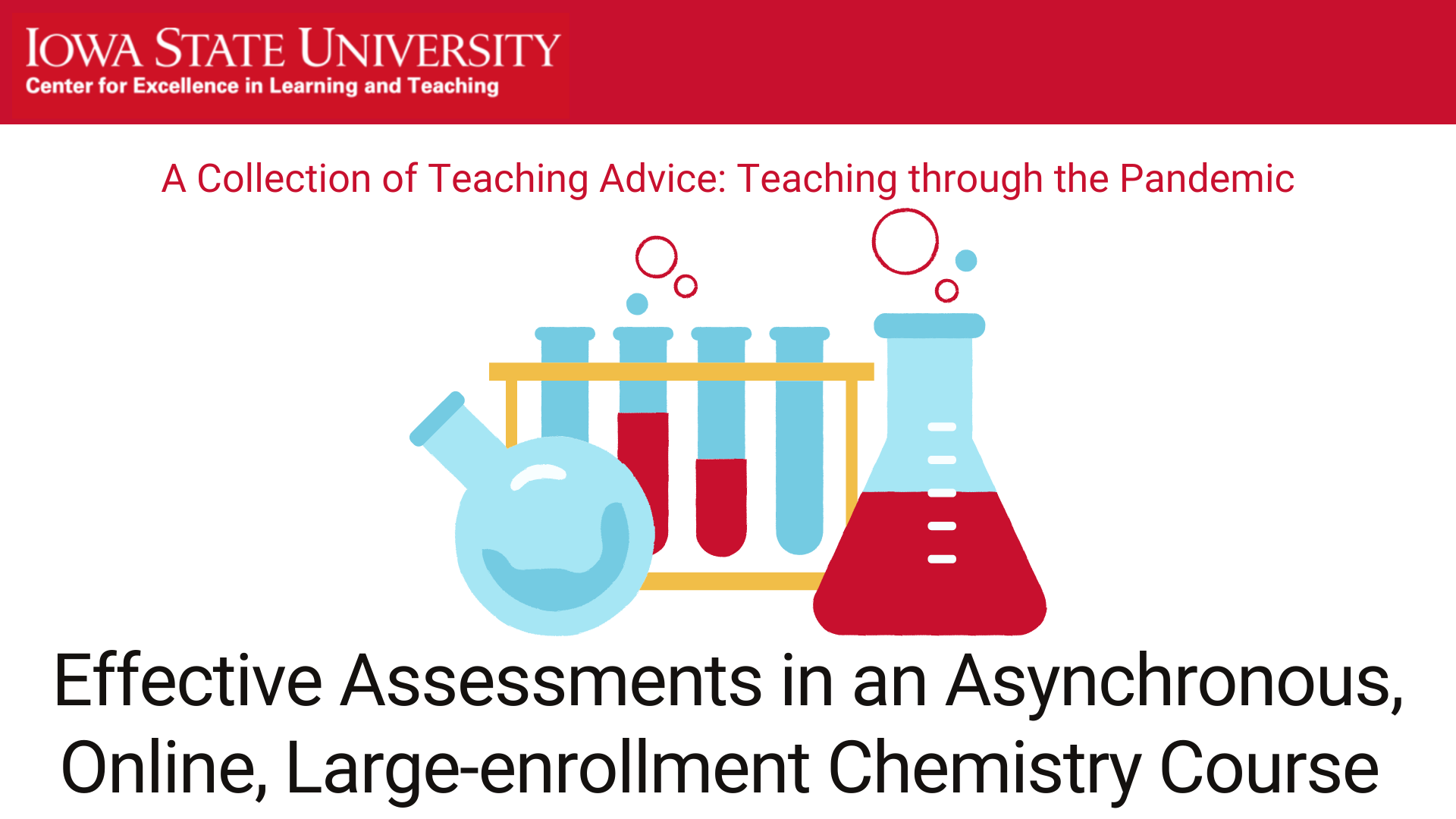 Effective assessments in an asynchronous, online, large-enrollment chemistry course