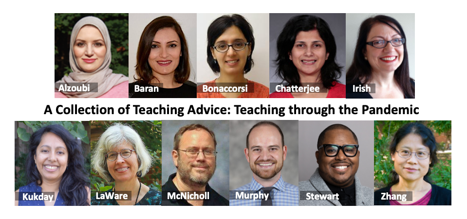 The 11 authors in alphabetical order for the nine CELT Teaching Briefs - A Collection of Teaching Advice: Teaching through the Pandemic  are pictured