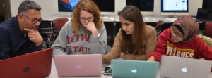 Photo of Students using educational technology in the English language classroom by Iowa State University licensed under CC BY 4.0